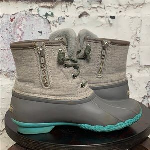 Sperry grey rain boots ankle size 6